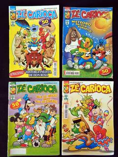 Lote De 4 Revistas Zé Carioca 52 Pgs Editora Abril Ano 2005