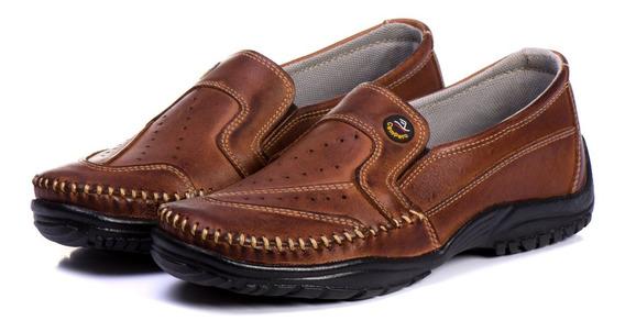 Mocassim Sapato Masculino Dockside Slip Confort Masculino 100% Couro Legitimo