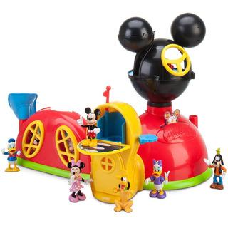 Casa De Mickey Mouse, Disney Store Set De Juego Con Figuras.