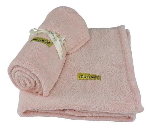 Cobertor Manta Pet Cães E Gatos Rosa Claro - Inverno