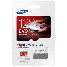 Cartão De Memoria Samsung Micro 128gb Com Adaptador 80mb/s