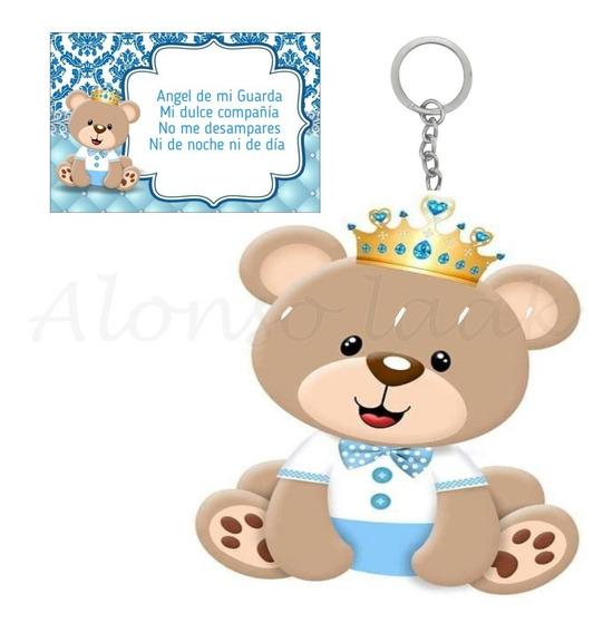 Llavero De Oso Baby Shower Bautizo Presentacion C/oracion F