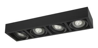 Aplique Plafon Box Cardanico 4 Luces Lampara Ar111 Led