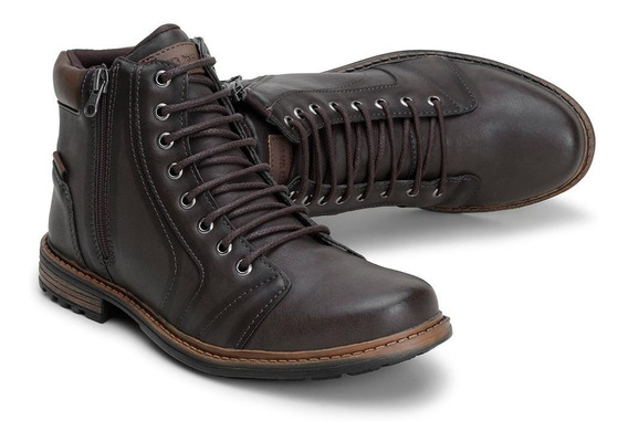 Bota Coturno Masculino Pedway Casual Social Zíper Lateral