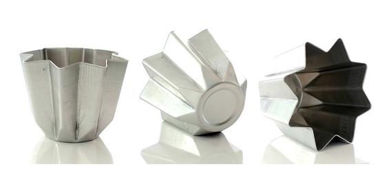 Molde Panettone Pan Dulce Pandoro 1 Kg Aluminio 20cm 16 Alto
