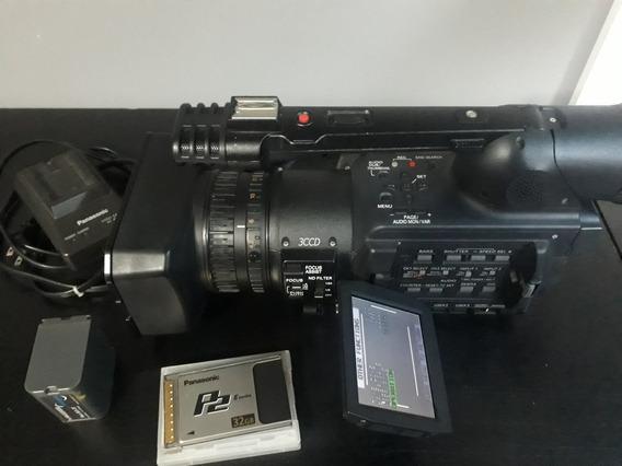 Panasonic Avx200 + Cartão P2 32g + 2 Baterias E Carregador