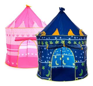 Carpa Castillo Para Niñas Rosa O Azul Juguetes Metinca