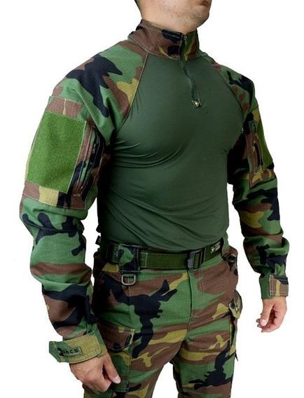 Farda Militar Tático Hrt Woodland Tactical Dacs Original Top