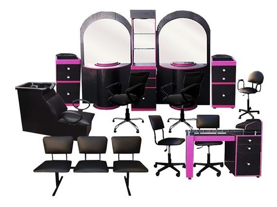 Equipo Para Estética Salón De Belleza 13 Muebles Fashion Qls