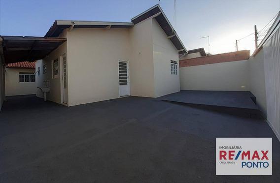 Casa Com 2 Dormitórios,com Área De Lazer Com Wc Nos Fundos Para Alugar, 106 M² Por R$ 1.000/mês - Condominio Santa Ursula - Mogi Mirim/sp - Ca0127