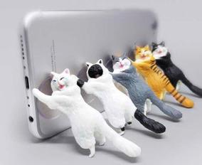 Suporte Celular Tablet Gato Mesa