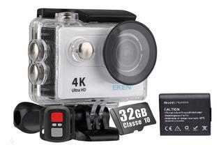 Câmera Eken H9r 4k Filmadora Original Wifi Controle + Bateria + 32gb Esporte Full Hd Prova D´água Capacete Moto Action