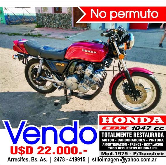 Honda Cbx 1050 Mod 1979 - 6 Cilindros - Restaurada Total.