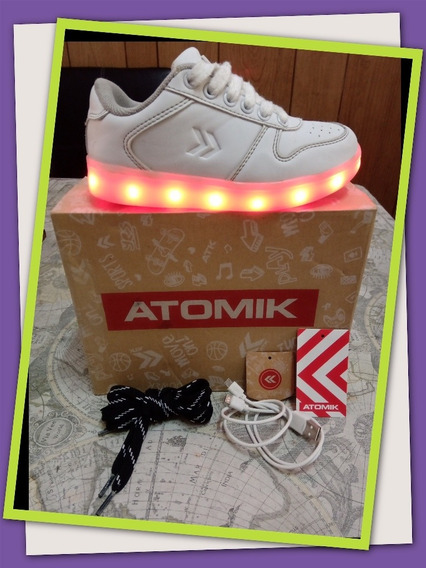 Zapatillas Led Usb Atomik Light Up Funcionando! Originales!