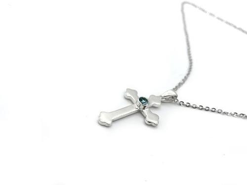 Imagen 1 de 1 de  Collar De Plata 950 Dijes Mujer Cruz Joyas Joyeria Damas