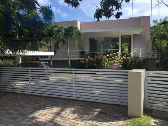 Casa Dentro Do Busca Vida, Piscina, Jardim, Segurança, Ciclovia, Praia Privativa. - 06098 - 34416608