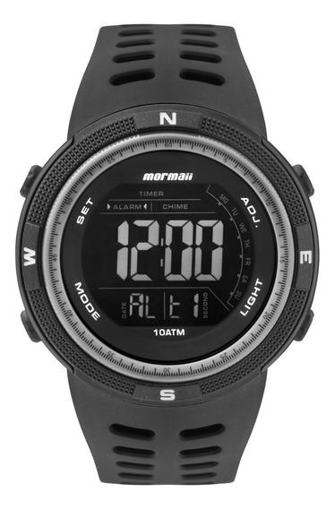 Relógio Mormaii Acqua Masculino Preto Digital Prova Dágua Nf