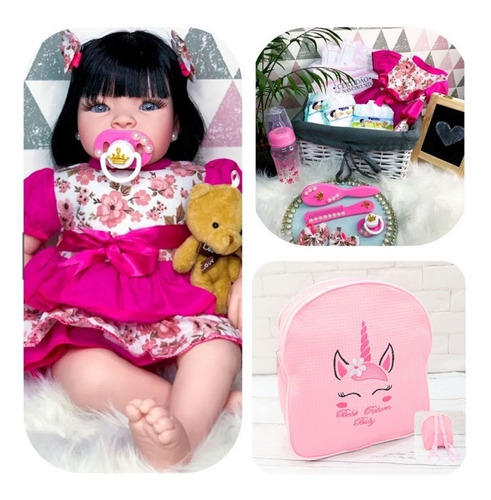 Bebê Real Reborn Realista 53cm Princesa Boneca Acessórios