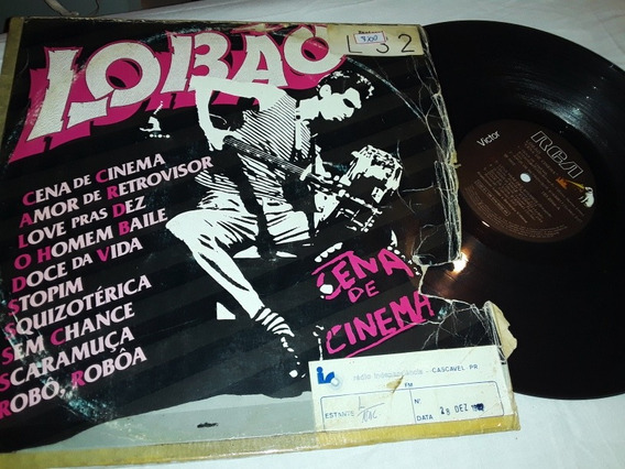 Lp Lobão- Cena De Cinema 1982 Capa Com Avarias