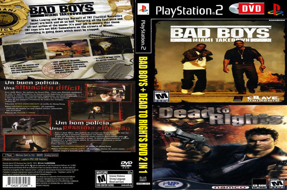 Bad Boys Compilation Dead To Rights Dvd 2 In 1 Playstation 2