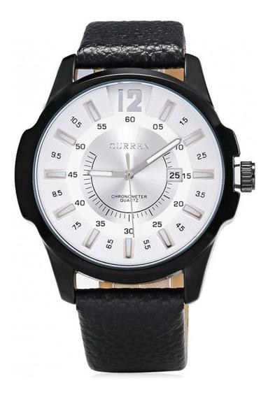 Relógio Masculino Curren Original Com Pulseira De Couro Nota