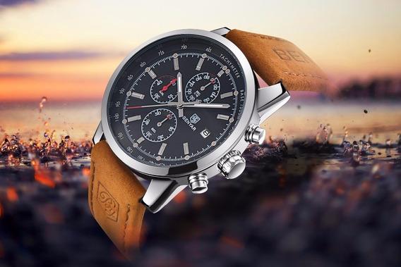 Relógio De Luxo Masculino Quartzo Benyar - Frete Grátis