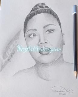 Fan Art Retrato Lizzo Cantante, Lápiz, Portrait