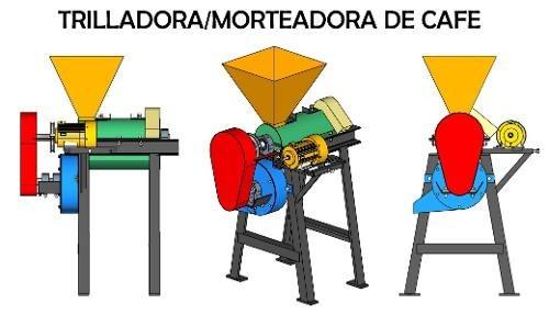 Flat Thresher Morteadora Cafe Design Assembly View 3d