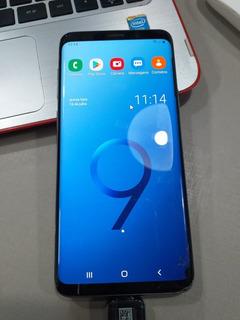 Samsung Galaxy S9 128gb Azul Seminovo - Display Trincado