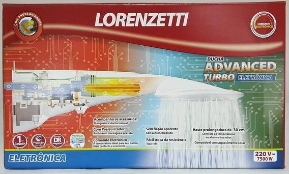 Ducha Advanced Eletronica Turbo C/ Pressurizador Lorenzetti