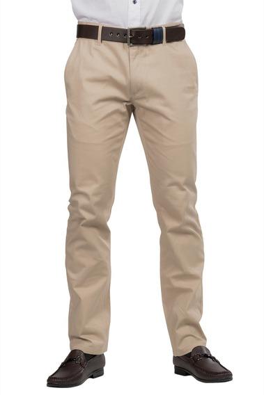 Pantalon Hombre Vestir Negro Stretch Satinado G80300