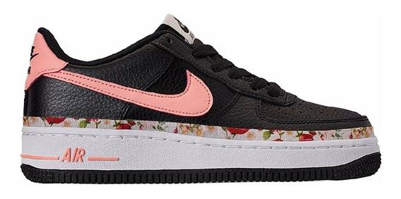 Tenis Nike Air Force 1 Vf Gs Dama Negro 24.5