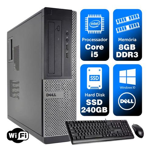 Cpu Barato Dell Optiplex Int I5 2g 8gb Ssd240 Brinde