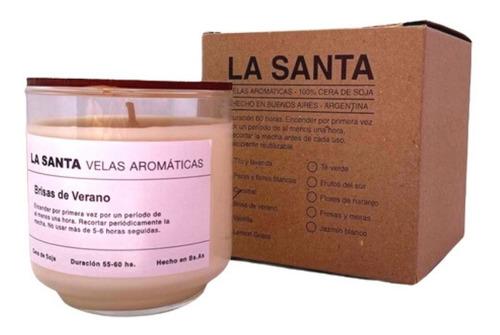 Imagen 1 de 5 de Vela Aromatica Cera De Soja De Brisa De Verano Vidrio X 1un