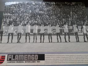 Poster Placar Flamengo Campeão Mundial 1981 21x27cm