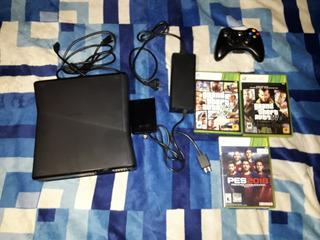 Xbox 360 !! + Disco Rigido De 250g + Cable Hdmi + 3 Juegos !