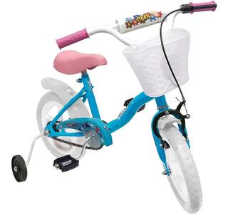 Bicicleta Rodado 12 Enrique Nena Canasto Rueditas + Freno
