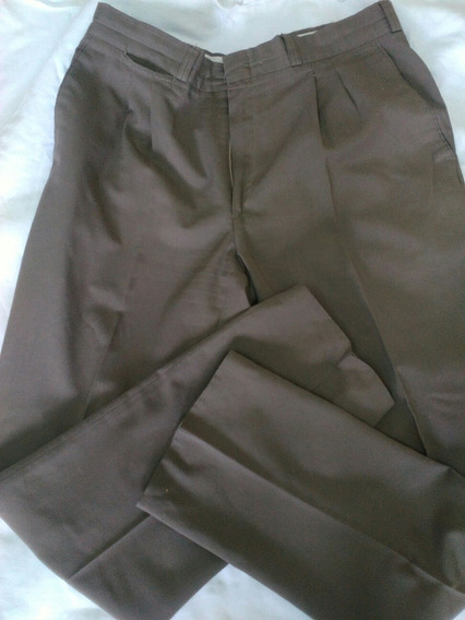 Pantalón Vestir Hombre Talle 44 Marrón