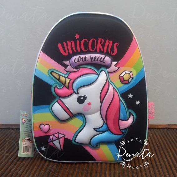 Mochila Unicornio - Con Relieve - Back-up Fun Licencia Original - Lo De Renata Tienda