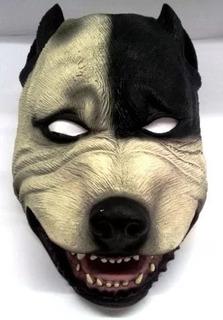 Máscara De Terror Cachorro Pit-bull 100% Látex Fantasia