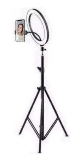 Kit Ring Ligth Anel Luz 26cm Mak Fotos Com Tripé 1,60 Nf Top