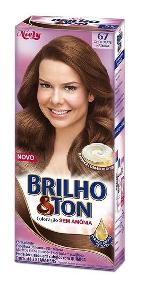 Tintura Brilho&ton 6.7 Chocolate Natural