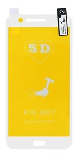 Película De Silicone Gel 5d Lg K10 2017 Branca