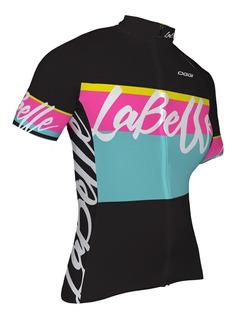 Camisa Ciclismo Feminina Bike Oggi La Belle Camiseta Preta