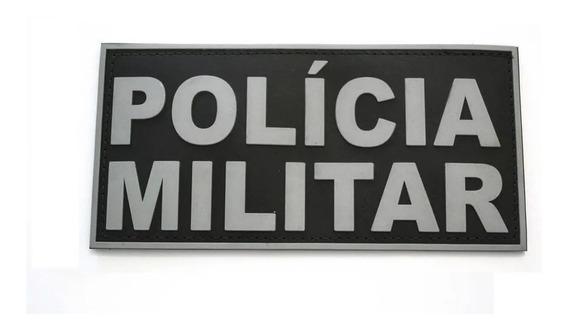 Brevê Emborrachado Polícia Militar Costas P/ Colete Tático