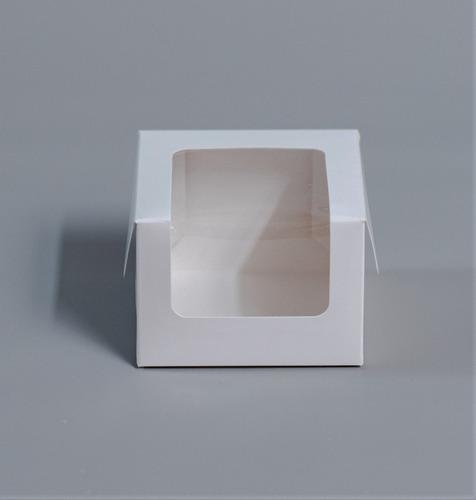 Caja 1 Pieza Baja Visor 10x10x7cm (x100u) Torta Mini Pvc 198