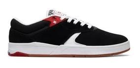 Tênis Dc Shoes Tiago S Black White Red Original Frete Gratis