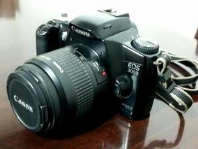 Camera Canon Eos 3000 Analógica Com Lente 38-76mm+ Tripé