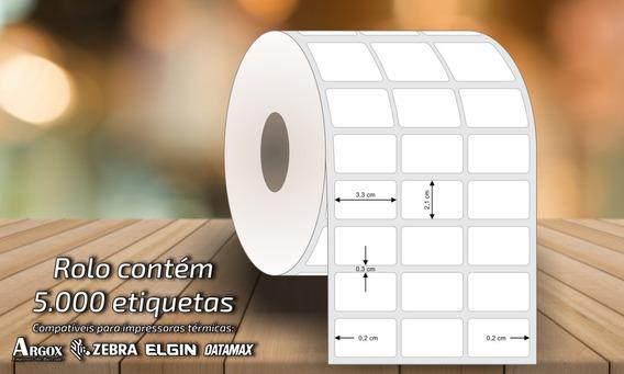Caixa Com 10 Rolos De Etiqueta 33x21x3