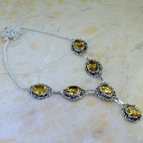 Acrgemas R$$$$ 75 Lindo Colar De Prata E Obsidiana 31g